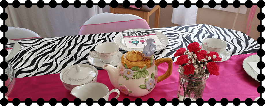 tiara tea party setup